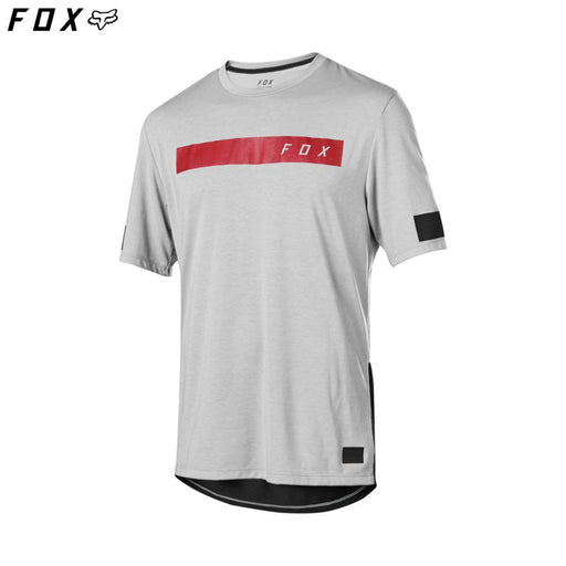 Fox Ranger DriRelease Bar SS MTB Jersey - Steel Grey