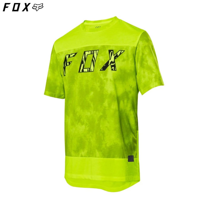 Fox Ranger DriRelease Elevated SS MTB Jersey SM Day Glo Yellow | ABC Bikes