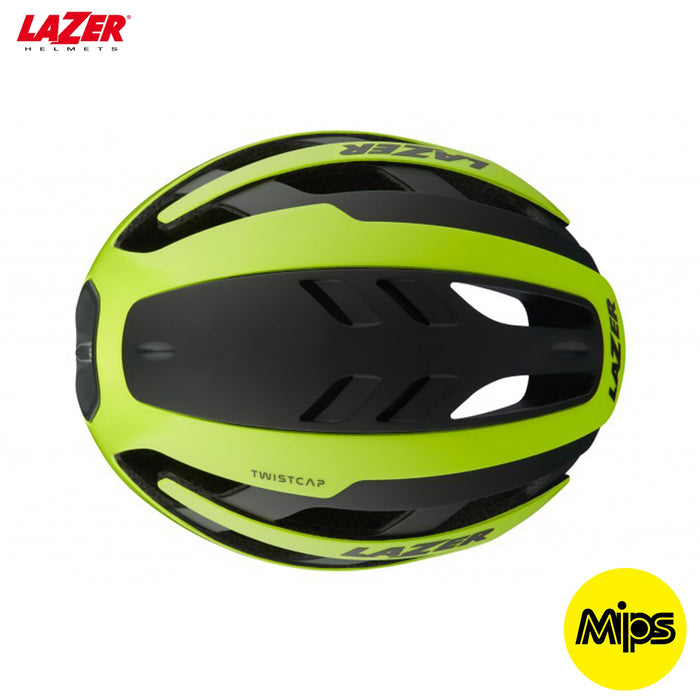 Lazer Century MIPS Road Helmet LG / 58-61cm Flash Yellow | ABC Bikes