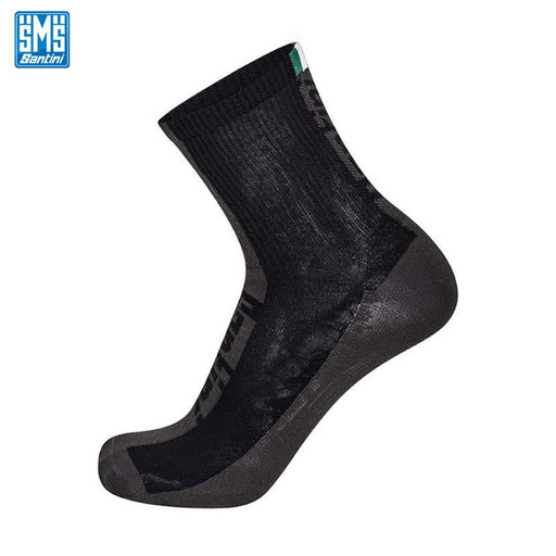 Santini Flag Socks XS (36-39) Black | ABC Bikes