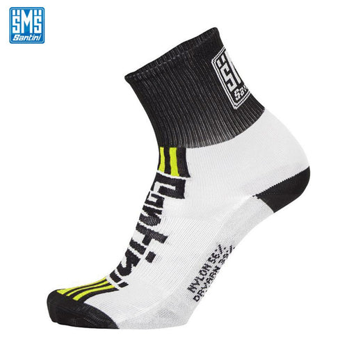 Santini Tau Socks XS (36-39) Fluro Yellow | ABC Bikes