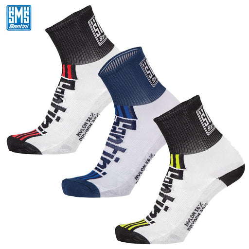 Santini Tau Socks MD (40-43) Fluro Yellow | ABC Bikes