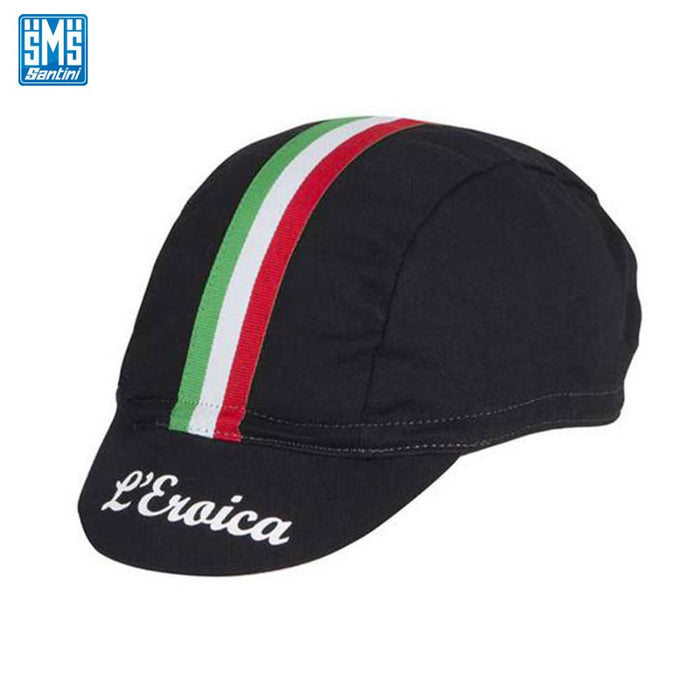 Santini Eroica Cotton Cap Black | ABC Bikes