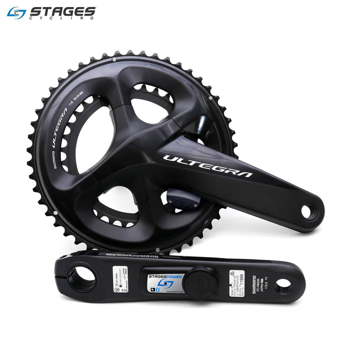 Stages Power LR Shimano Ultegra R8000 Power Crank 165mm 36/52 Black | ABC Bikes