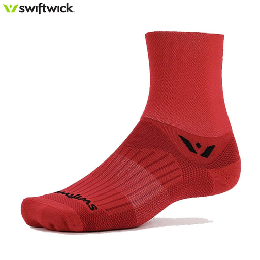Swiftwick Aspire Four Socks LG / 43-46 Red | ABC Bikes