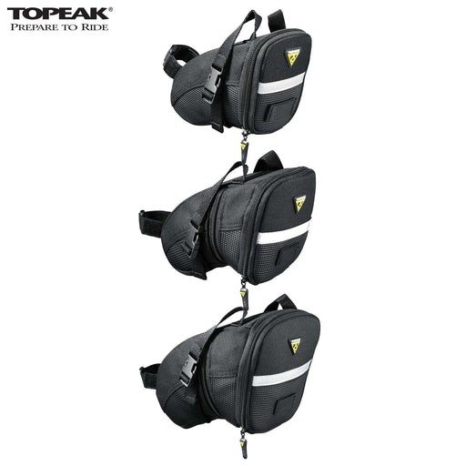 Topeak Aero Wedge Strap Saddle Bag Large Black | ABC Bikes