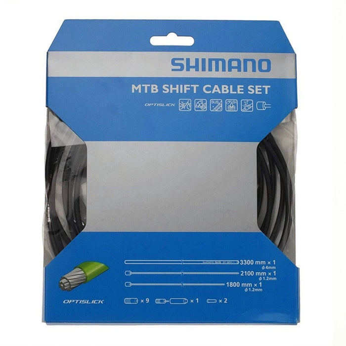 Shimano Optislick MTB Gear Cable Kit Black | ABC Bikes