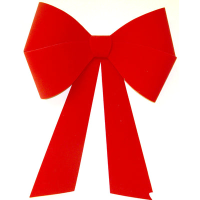 Red Flocked (Velour) Bow