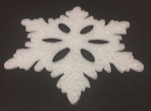 Snowflakes Poly Foam-12pc Set