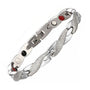 Stylish Silver Plated Magnetic and Germanium Therapy Bracelet for Women (SBRM10253)