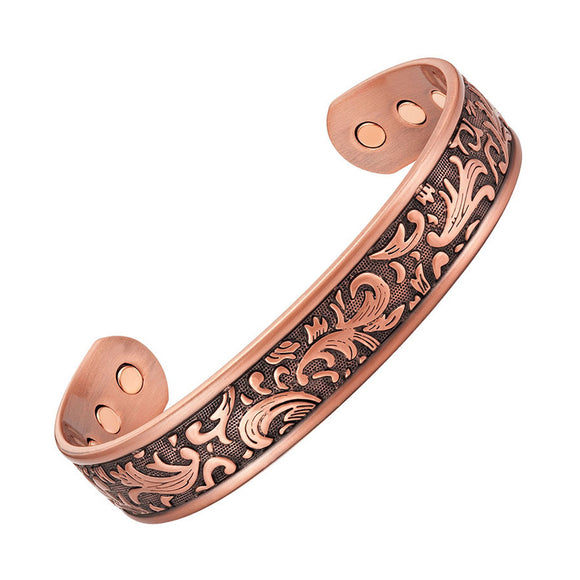 Stylish Magnetic Therapy Bracelet Antique Bronze Cuff Bracelet (CMBG0054)