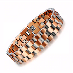 Solid Magnetic Copper Bracelet Vintage Wrist Band for Men (COB007)