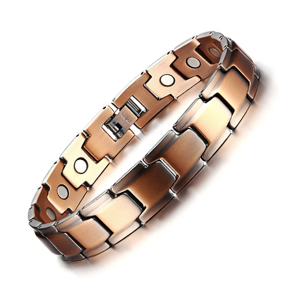 Stylish Vintage Antique Pure Copper Magnetic Therapy Bracelet Men (COB009)