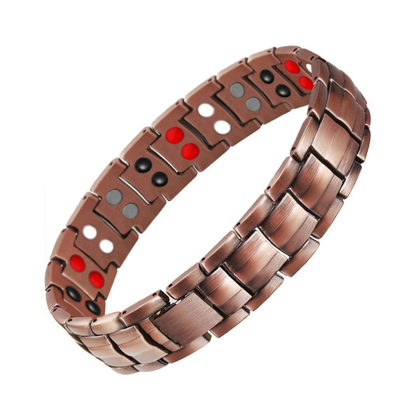 Stylish Pure Copper Magnetic Germanium Therapy Bracelet for Men (SBRM10210)
