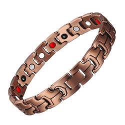 Stylish Pure Copper Magnetic Therapy Bracelet for Men and Women (LF10211)