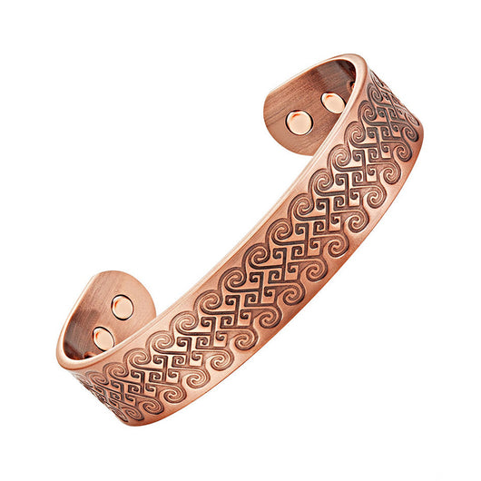 Stylish Magnetic Therapy Bracelet Antique Bronze Cuff Bracelet (CMBG0162)