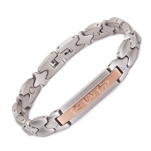 Stylish Bio-Energy Healing Germanium Therapy Bracelet with CZ Stone for Women (MSC-2516)