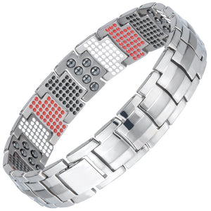 Stylish Bio-Energy Magnetic Therapy Bracelet G4 Series For Men (SBRM10212)