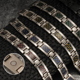 Charm Titanium Carbon Fiber Germanium Magnetic Bracelet for Men (ST081-Black)