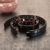 Stylish Punk Bio-Energy Magnetic Therapy Bracelet G4 Series For Men (SBRM087- Blue Trim)