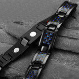 Stylish Bio-Energy Magnetic Therapy Bracelet for Men (SBRM095CF)