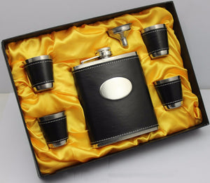 MSC Perfect Man's Gift - Personalize Trendy Flask Set