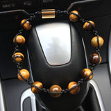 Tiger's Eye Natural Stone Bracelet (Adjustable)