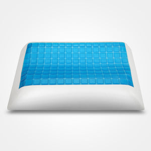 Summer Cooling Gel Memory Foam Pillow with Bamboo Fiber Washable Pillowcase