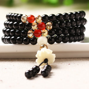 Natural Tibetan Black Quartz Healing and Protection Bracelet for Women