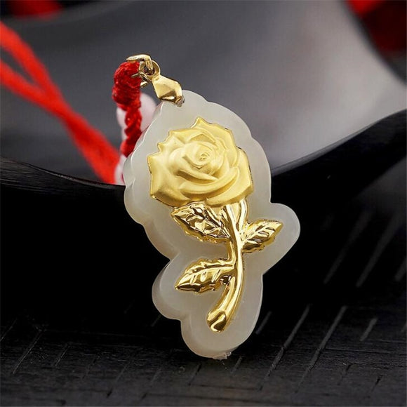 Natural Healing Rose Jade Pendant (R0011)
