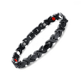 Fashionable Germanium Magnetic Therapy Bracelet for Women (SBRM047- Black)