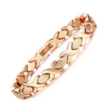 Fashionable Germanium Magnetic Therapy Bracelet for Women (SBRM047- Rose Gold)