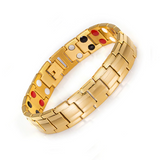 Stylish Punk Bio-Energy Magnetic Therapy Bracelet G4 Series For Men (SBRM087-Gold Color)