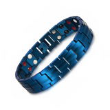 Stylish Punk Bio-Energy Magnetic Therapy Bracelet G4 Series For Men (SBRM087-Navy Blue)