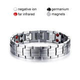 Stylish Punk Bio-Energy Magnetic Therapy Bracelet G4 Series For Men (SBRM087-Silver)