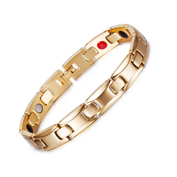 Fashionable Germanium Magnetic Health Bracelet for Women (ST085B-Gold)