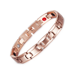 Fashionable Germanium Magnetic Health Bracelet for Women (ST085B-Rose Gold)
