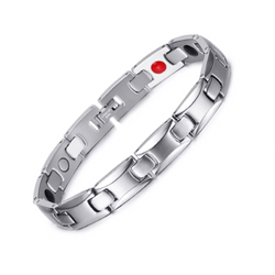 Fashionable Germanium Magnetic Health Bracelet for Women (ST085B-Silver)