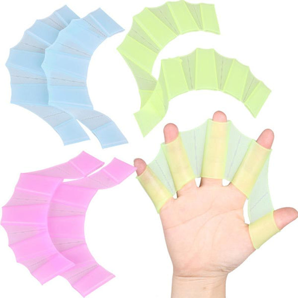 Kids Silicone Web Gloves for Swimming Training