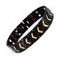 Stylish Bio-Energy Magnetic Therapy Bracelet for Men (TBRM030E-Black Gold Arrow)