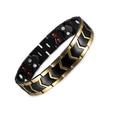 Stylish Bio-Energy Magnetic Therapy Bracelet for Men (TBRM030E-Black Gold)