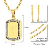 Free Engraving Stainless Steel Medical Alert Pendant/Necklace for Women (PN0642G)