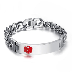 Free Engraving Stainless Steel Medical Alert Bracelet for Men/Women (BR0102)