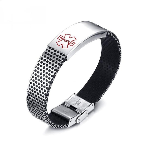 Free Engraving Stainless Steel Medical Alert Bracelet for Women (BR0231)