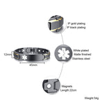 The Stylish Bio-Energy Magnetic Therapy Bracelet With Diabetic Medical Alert ID Specifications
