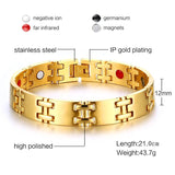 2018 Stylish Bio-Energy Magnetic Therapy Bracelet G4 Series For Men (SBRM108)