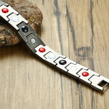 Stylish Bio-Energy Magnetic Therapy Bracelet Vintage Series For Men (SBRM009Gr1)