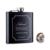 MSC 6oz Personalized Event Trendy Hip Flask