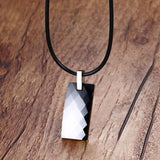 Stylish Bio-Energy Men Tungsten Carbide and Magnetic Multi-Facet Pendant Necklace (PN699MP)