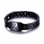 Lustrous Libra Zodiac Germanium Magnetic Therapy Bracelet with Hologram Carbon Fiber for Men (SBRM-093B)